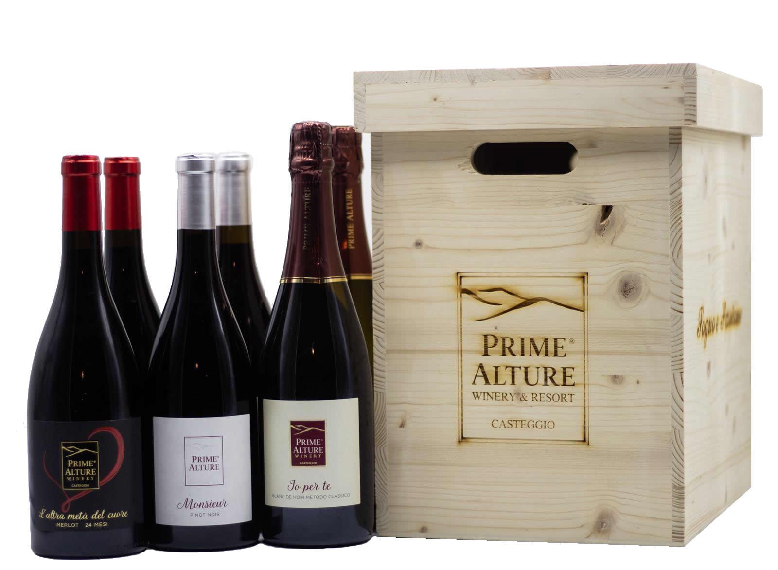 Collezione Elite – IO per TE Metodo Classico, L'Altra Metà del Cuore, Monsiuer Pinot Noir prime alture winery